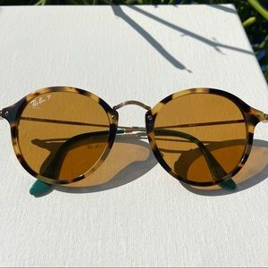 Polarized Round Fleck Ray-bans sunglasses